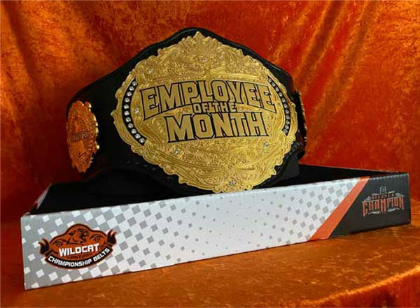 Personalized Display Stands - Wildcat Championship Belts