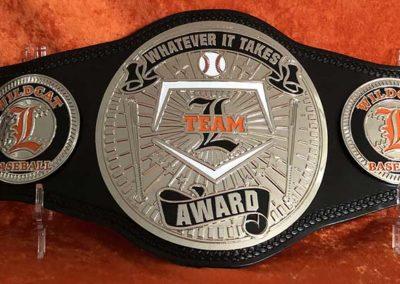 Greater Latrobe High School Baseball MVP Championship Belt