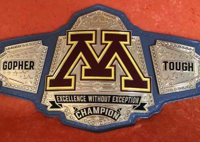 University of Minnesota Wrestling Team Championship Belt