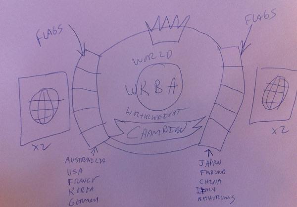 Production Process - Rough Sketch - Wildcat Championship Belts